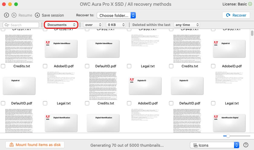 recover documents with disk drill