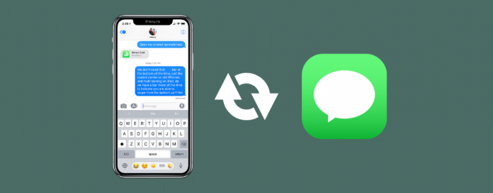 recover deleted text messages from an iPhone