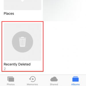 how to recover deleted photos from iphone from the recently deleted folder